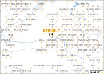 map of Genholt