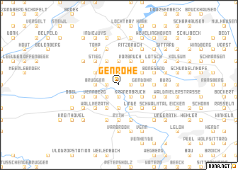 map of Genrohe