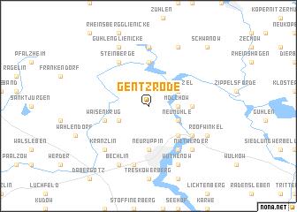 map of Gentzrode