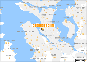 Georgetown United States USA Map Nonanet - Us map seattle washington