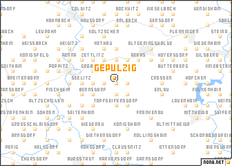 map of Gepülzig