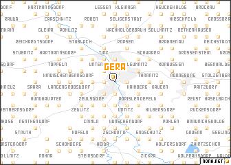 map of Gera