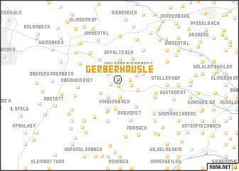 map of Gerberhäusle