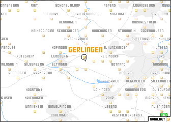 map of Gerlingen