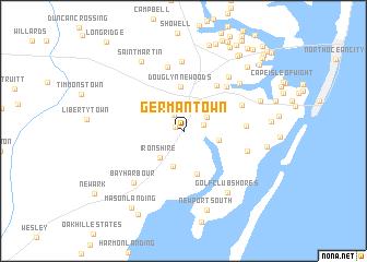 Germantown United States USA map nonanet