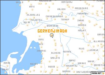 map of Gërmenj i Madh
