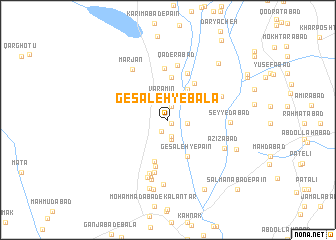 map of Gesāleh-ye Bālā