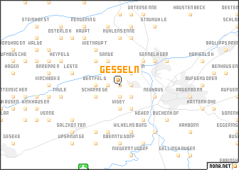 map of Gesseln