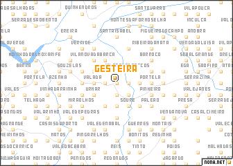 map of Gesteira