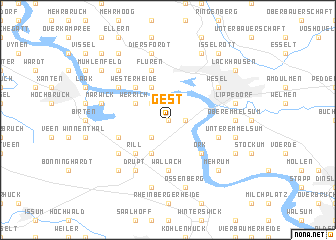 map of Gest