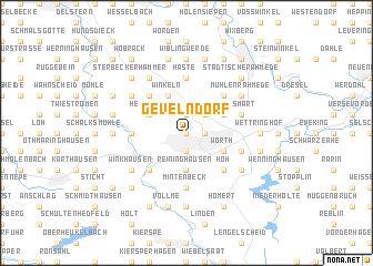map of Gevelndorf