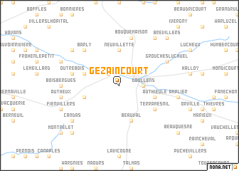 map of Gézaincourt