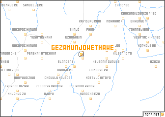 map of Gezamunjowe Thawe