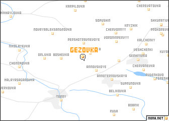 map of Gezovka