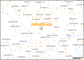 map of Ghedir el Haj