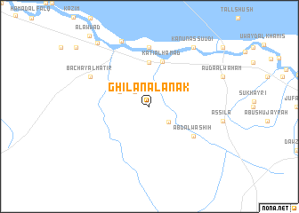 map of Ghīlān Āl 'Anak