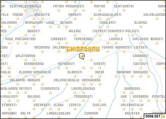 map of Ghiordunu