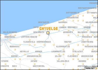 map of Ghyvelde