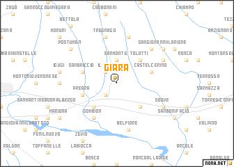 map of Giara