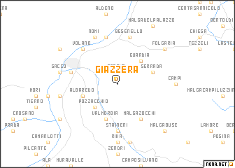map of Giazzera