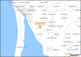 map of Gibišai