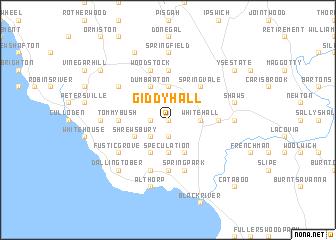 map of Giddy Hall