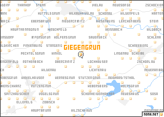 map of Giegengrün