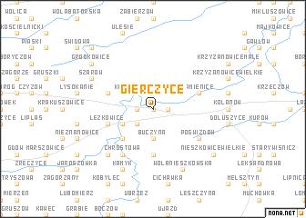 map of Gierczyce