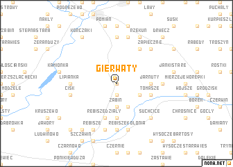map of Gierwaty