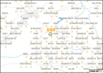 map of Gier