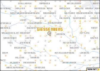 map of Giessenberg