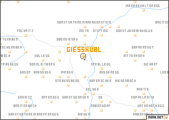 map of Giesshübl