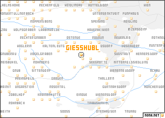 map of Gießhübl