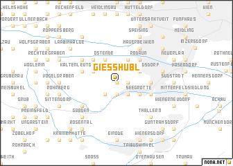 map of Gießhübl