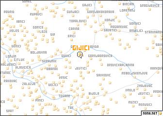 map of Gijići