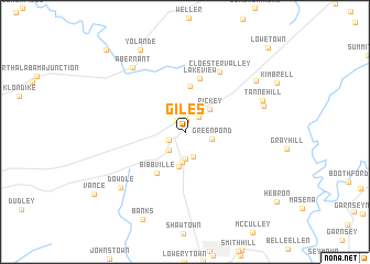 map of Giles