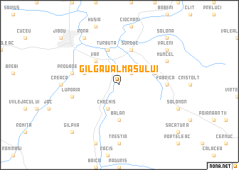 map of Gîlgău Almaşului
