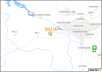 map of Gillis