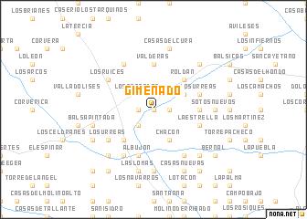 map of Gimenado