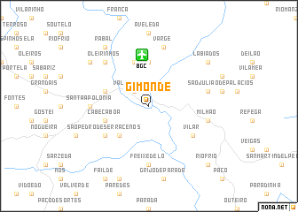 map of Gimonde