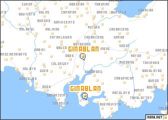 map of Ginablan
