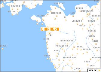 map of Ginangra