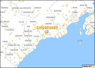 map of Gindaruhan