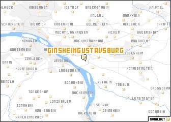 map of Ginsheim-Gustavsburg