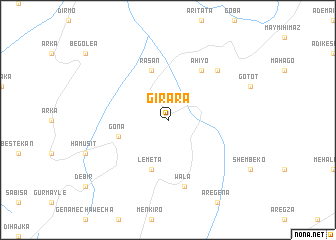 map of Girara