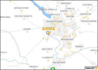 map of Girard