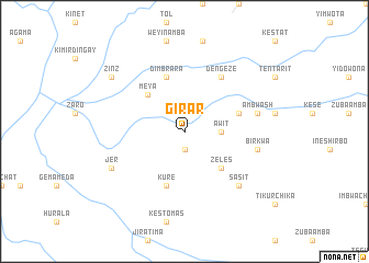 map of Girar