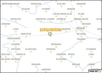 map of Girdvainiai