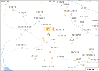 map of Girfīl