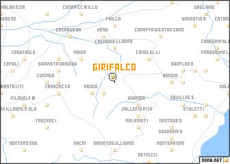 map of Girifalco